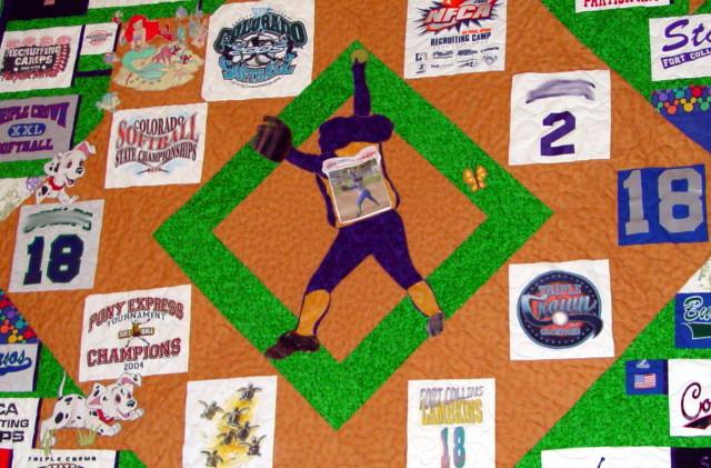 Athlete t-shirt quilt