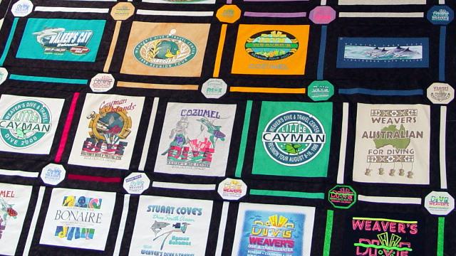 Diving enthusiast t-shirt quilt