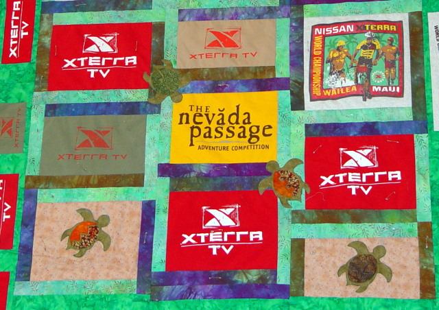 Turtle-themed t-shirt quilt