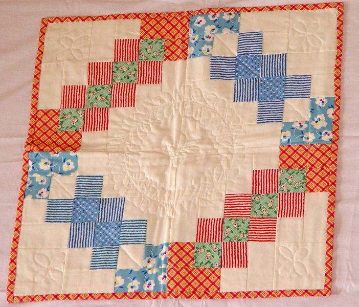 Vintage look baby quilt