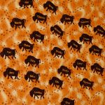 The back of the Bison Ranch quilt