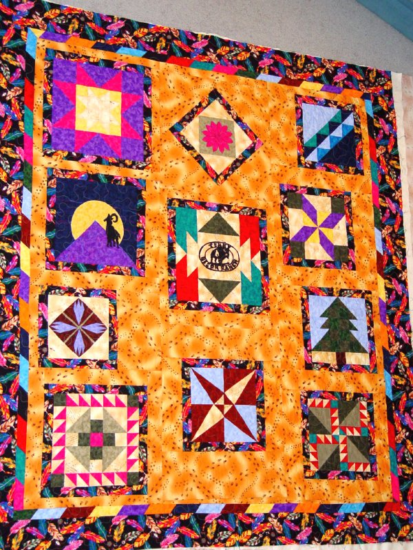 The Bison Ranch quilt