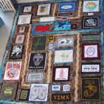 College student's t-shirt quilt