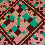 Close-up of a custom quilt design