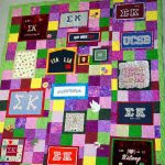 A t-shirt quilt for a sorority member