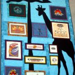 The standing giraffe quilt