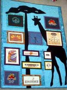 The standing giraffe quilt