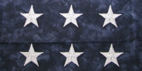Silver American flag table runner stars