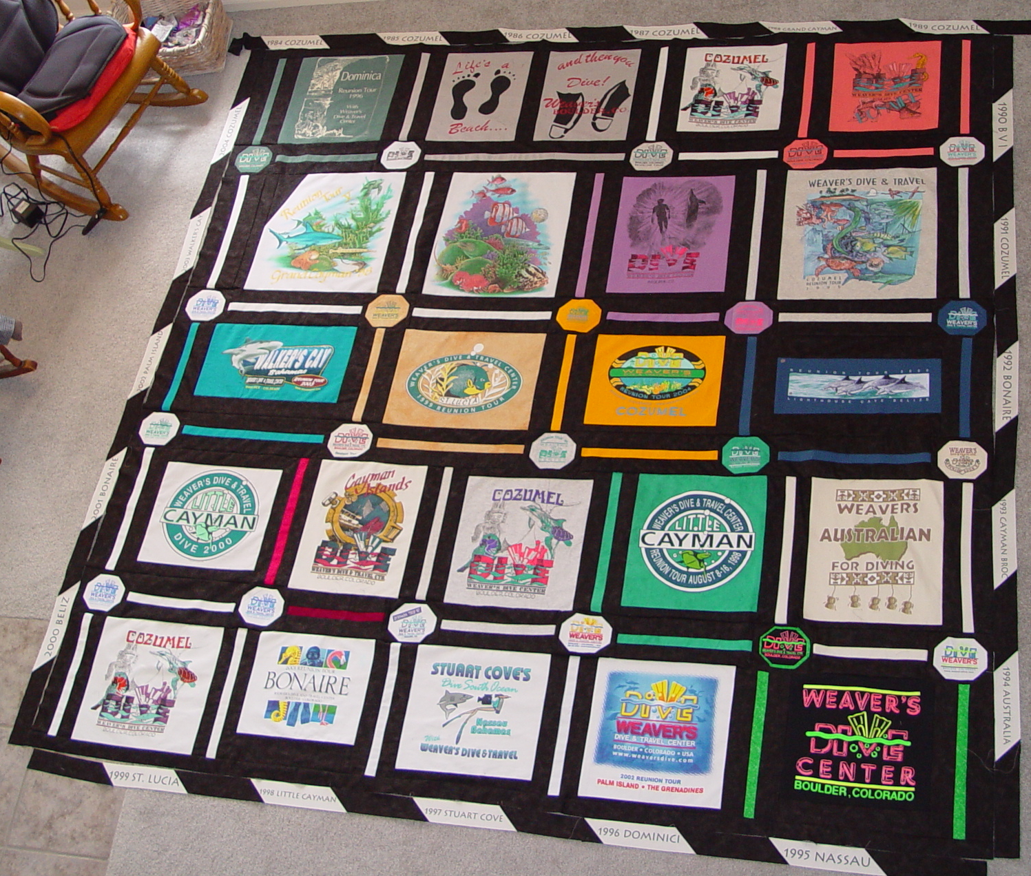 T shirt Quilt Variable Style